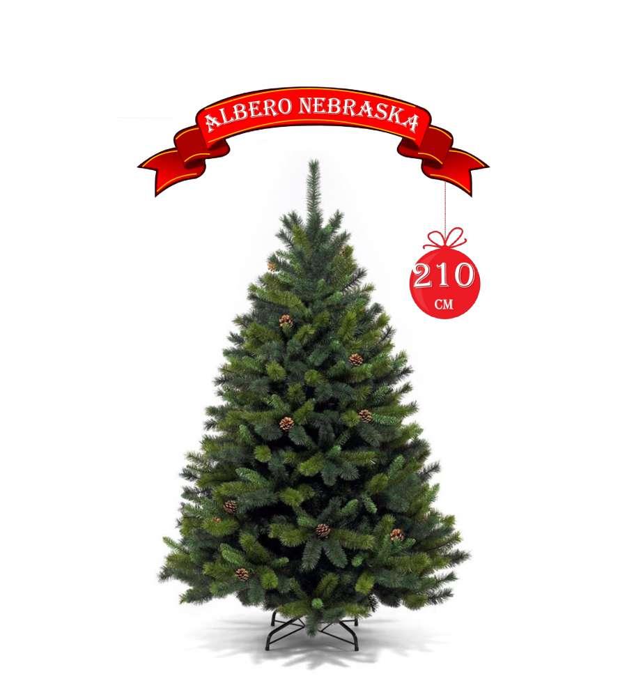 Albero Di Natale 210.Albero Di Natale Nebraska Alto 210 Cm Con 1330 Rami Apertura Ad Ombrello