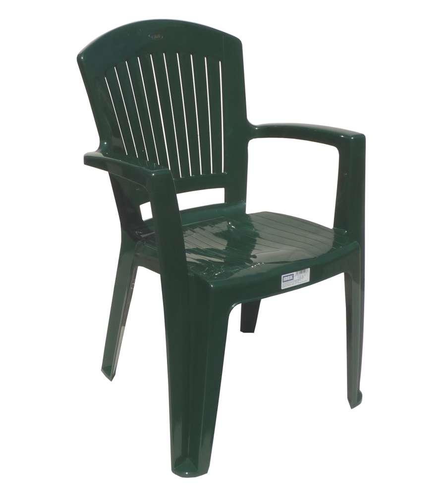 Sedia verde da giardino comfort vega for Poltrone da giardino
