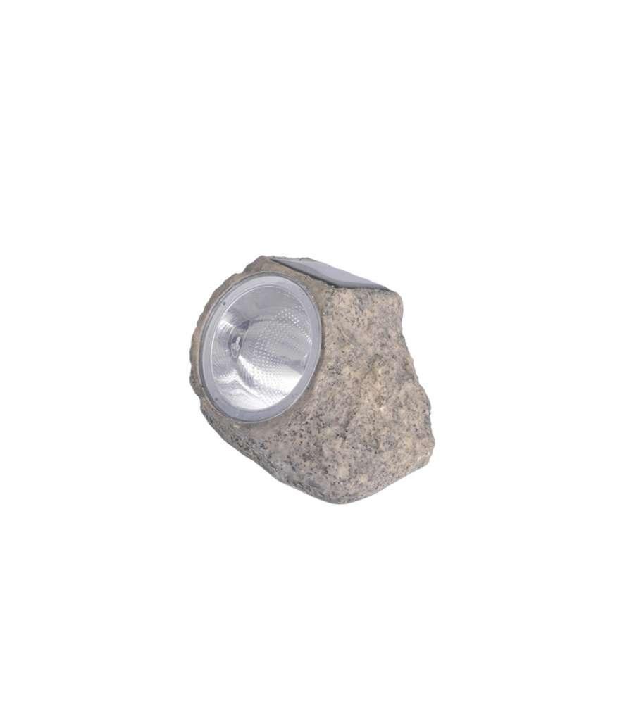 Offerta sasso in resina con luce solare con 4 led for Lampade a led grandi