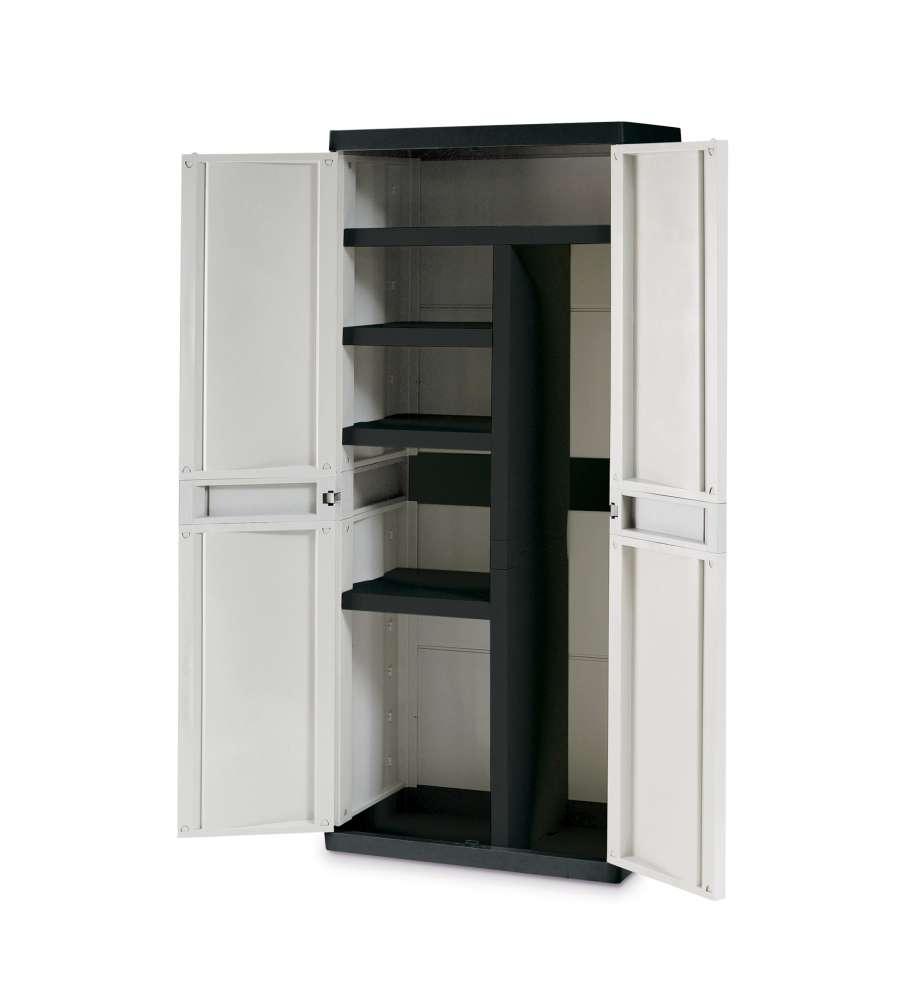 Armadio top line con 4 ripiani e porta attrezzi for Armadio con ripiani