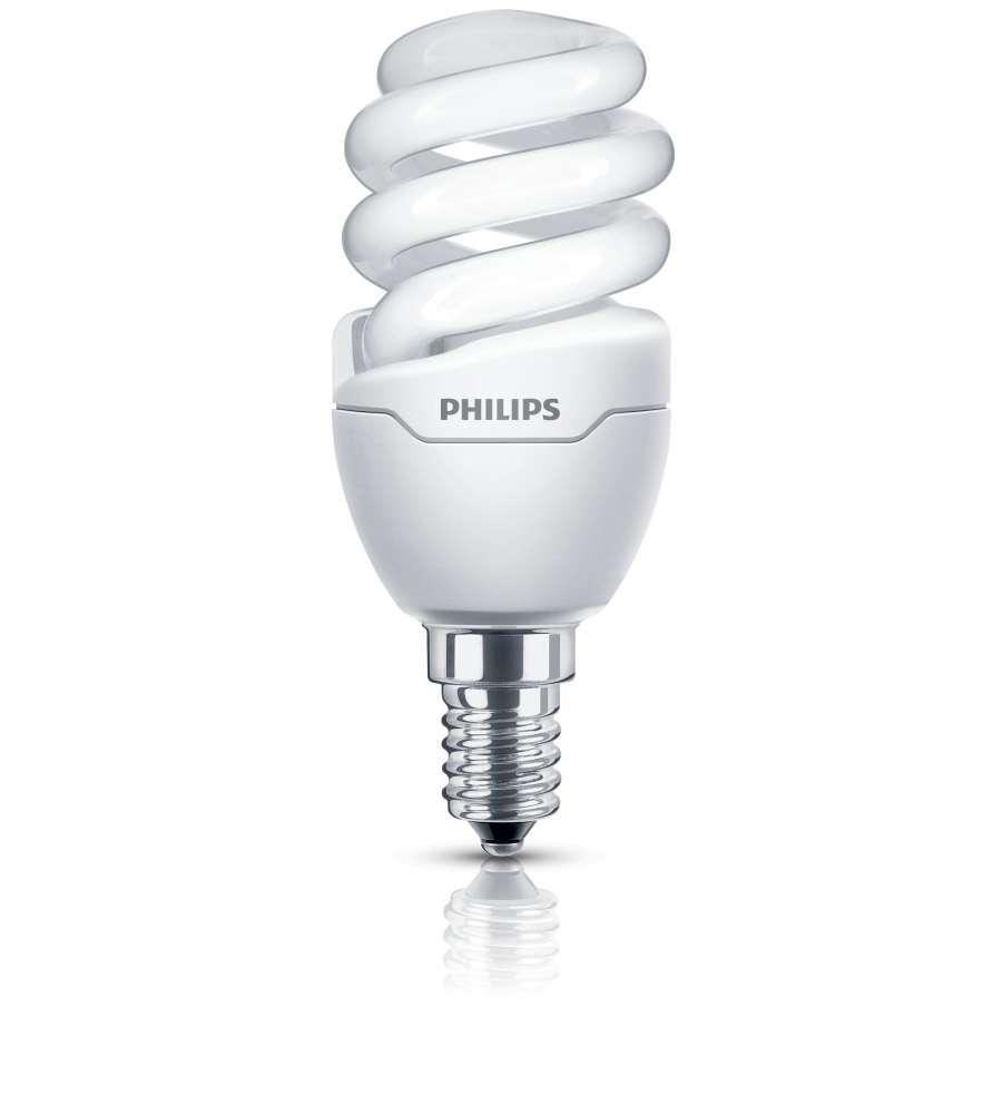 Philips lampadina mini tornado slim fit 8 45w e14 - Philips illuminazione casa ...