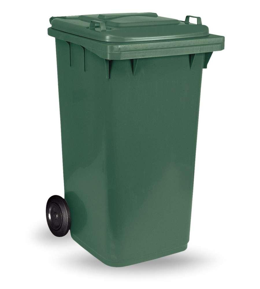 Bidone pattumiera professionale per rifiuti con ruote da 120 litri 55x49x94 cm - Bidoni per differenziata casa ...