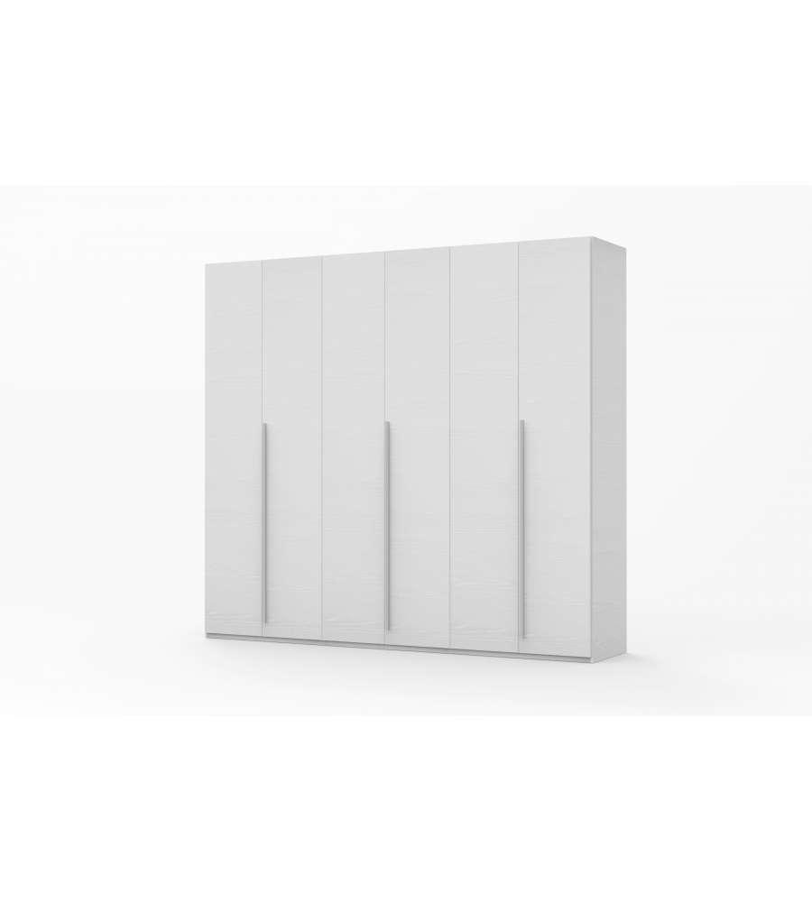6 Ante Colore Bianco Frassinato L272 X P59 X H247 Cm