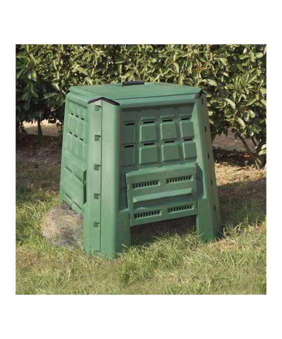 compostiera da giardino 380 litri in polipropilene verde