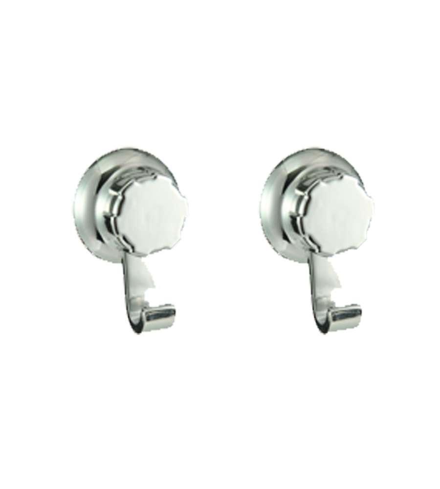 Accessori Bagno Best Lock.Bestlock Set 2 Ganci Cromati Con Fissaggio A Ventosa