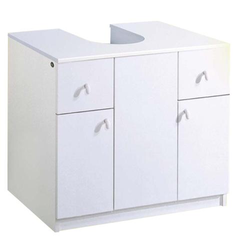 Copricolonna con 2 ante e 2 cassetti colore bianco - Mobile sottolavabo a colonna ...