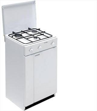 cucina 3 fuochi a gas con porta bombola bi900yal bianca