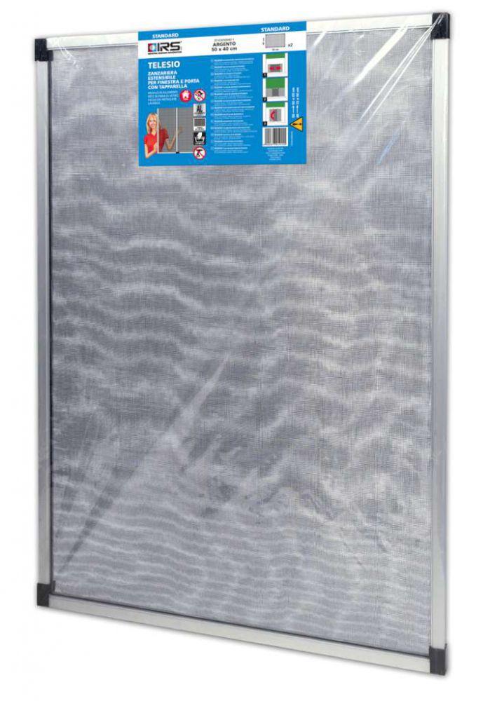 Zanzariera per porte e finestre grigia estensibile - Zanzariere mobili per finestre ...
