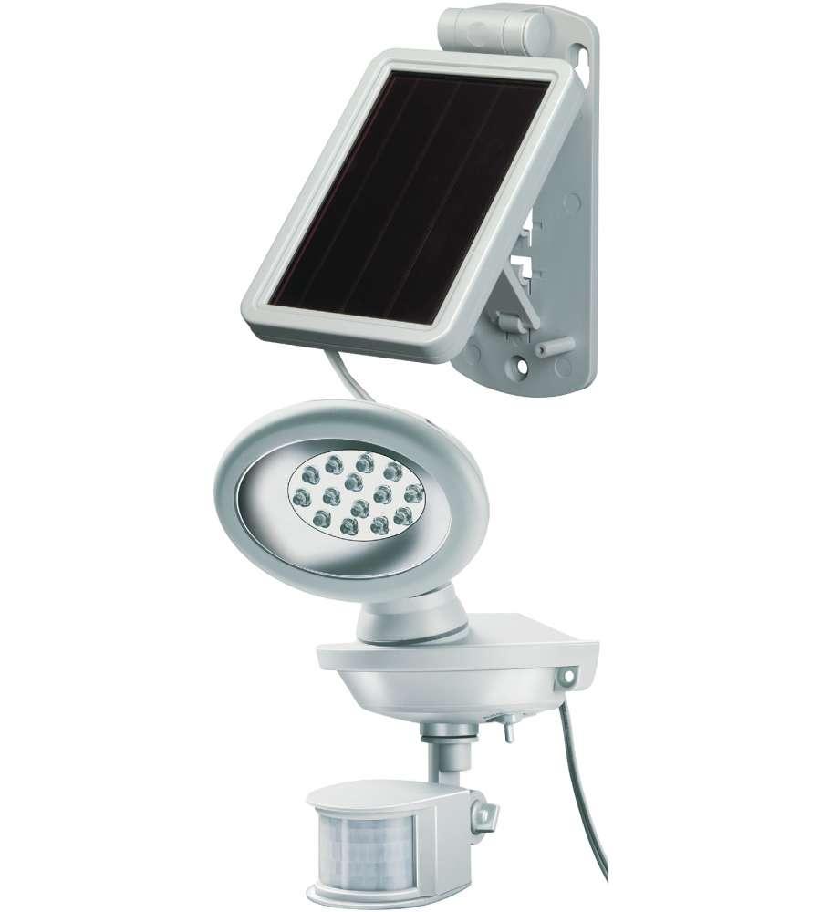 Faro Led Con Pannello Solare : Lampada faro solare per esterno a led lumen ip con