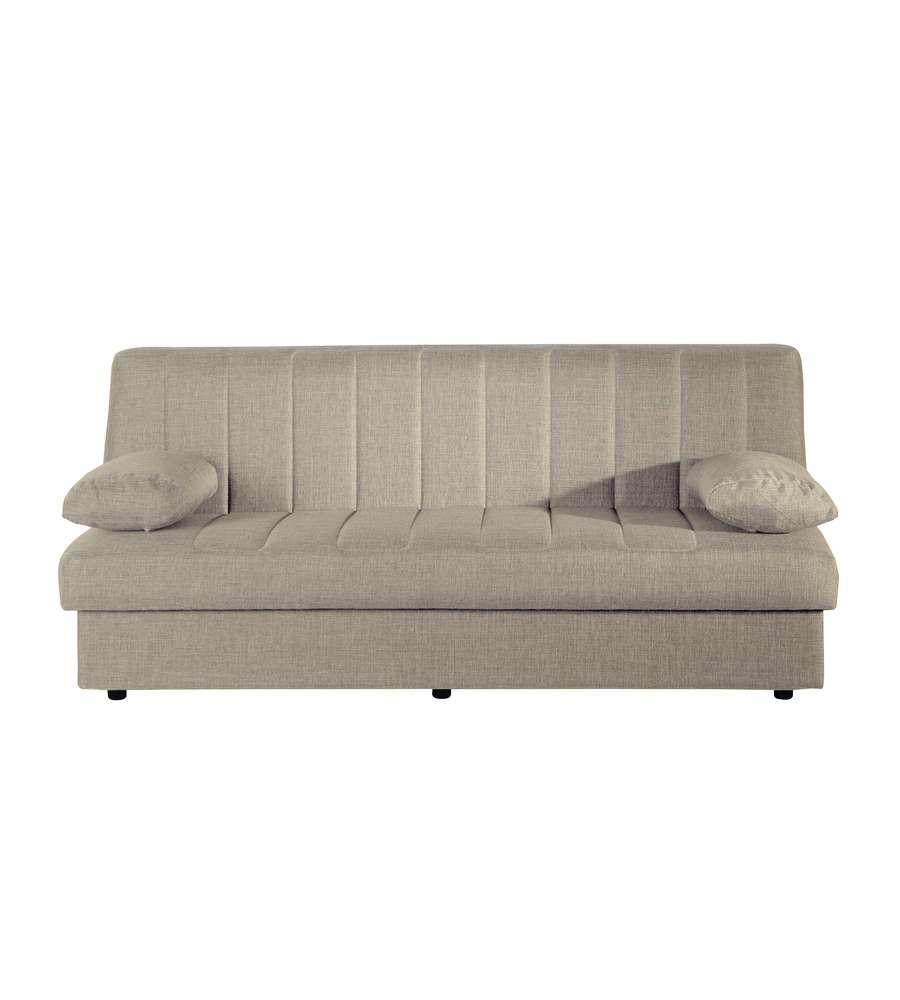 Divano letto modello messi di colore beige 191x80x85h cm - Divano beige colore pareti ...
