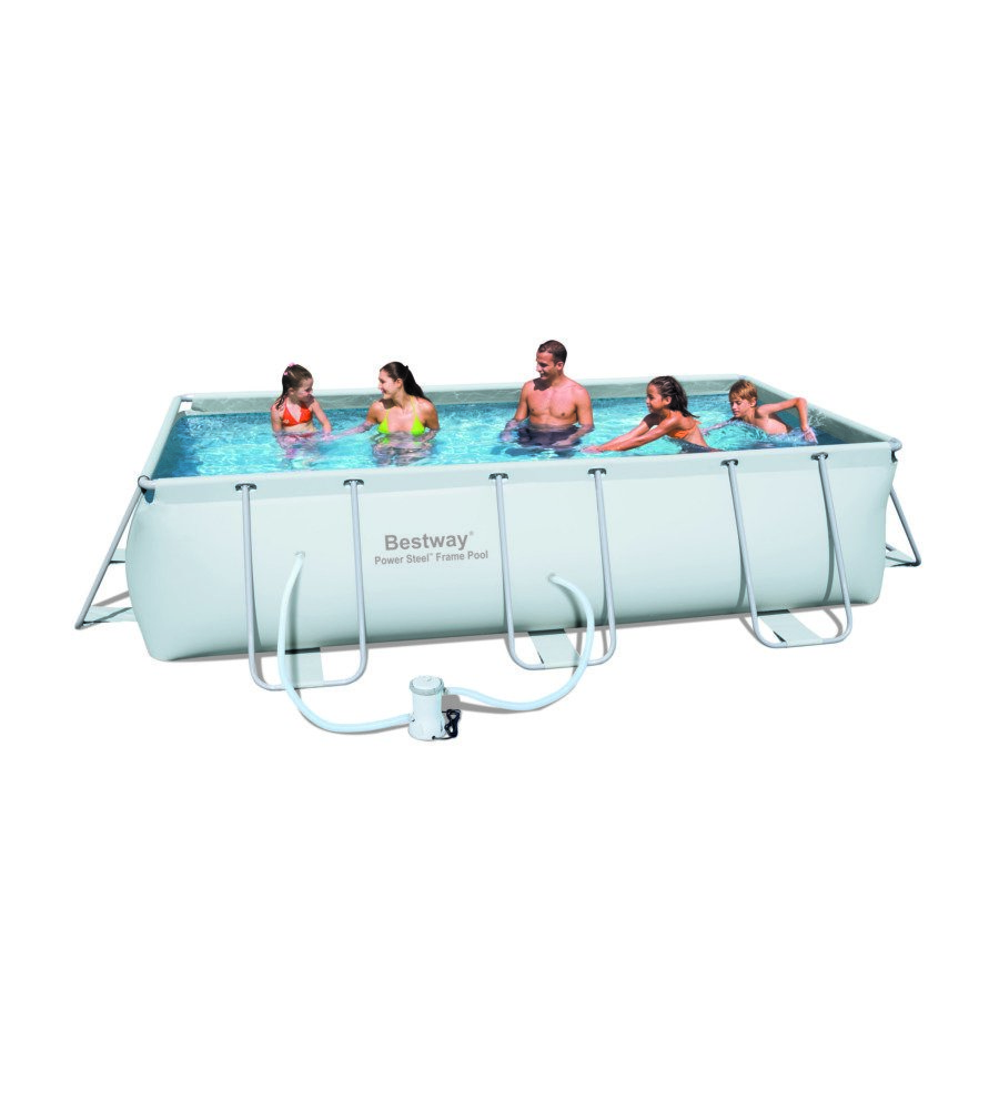Bestway piscina rettangolare in pvc con pompa filtro e - Misure piscina bestway ...