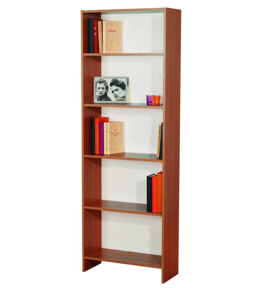 Libreria con 5 ripiani color ciliegio e fondo bianco 60 for Arredamento ciliegio e bianco