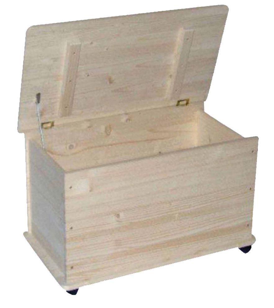 Baule portatutto in legno con ruote for Cassapanca vimini