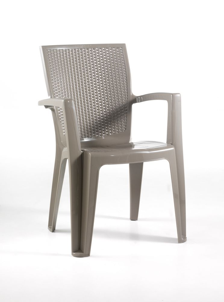 Sedia da esterno comfort giava colore taupe - Tavoli e sedie da esterno ...