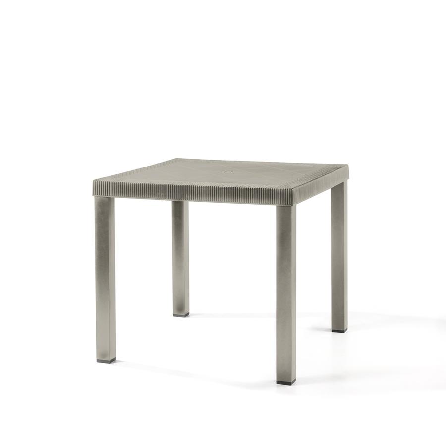 Eurobrico Tavoli Da Giardino.Tavolo Da Esterno Brio 82x82x73 Cm Colore Taupe