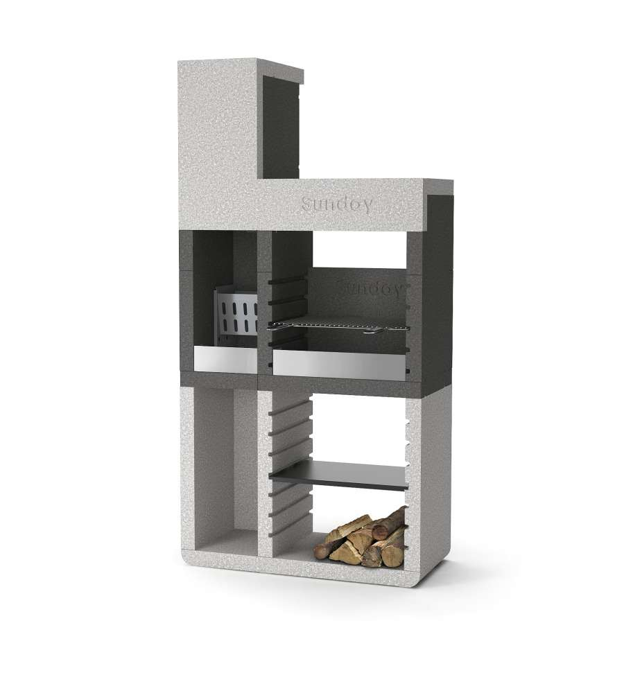 barbecue sunday one tower in muratura per esterno 106x49x213h. Black Bedroom Furniture Sets. Home Design Ideas