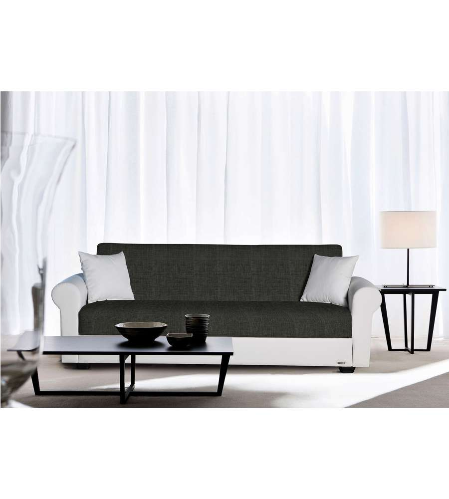Divano letto modello dafne a 3 posti grigio bianco - Divano bianco e grigio ...