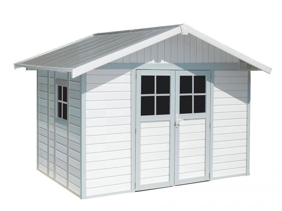 Casetta da giardino in pvc deco bianco azzurro 7 5 mq - Pulizia interna termosifoni alluminio ...