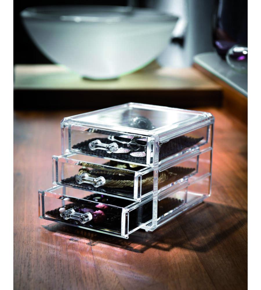 Organizer con 3 cassetti cm - Organizer bagno ...