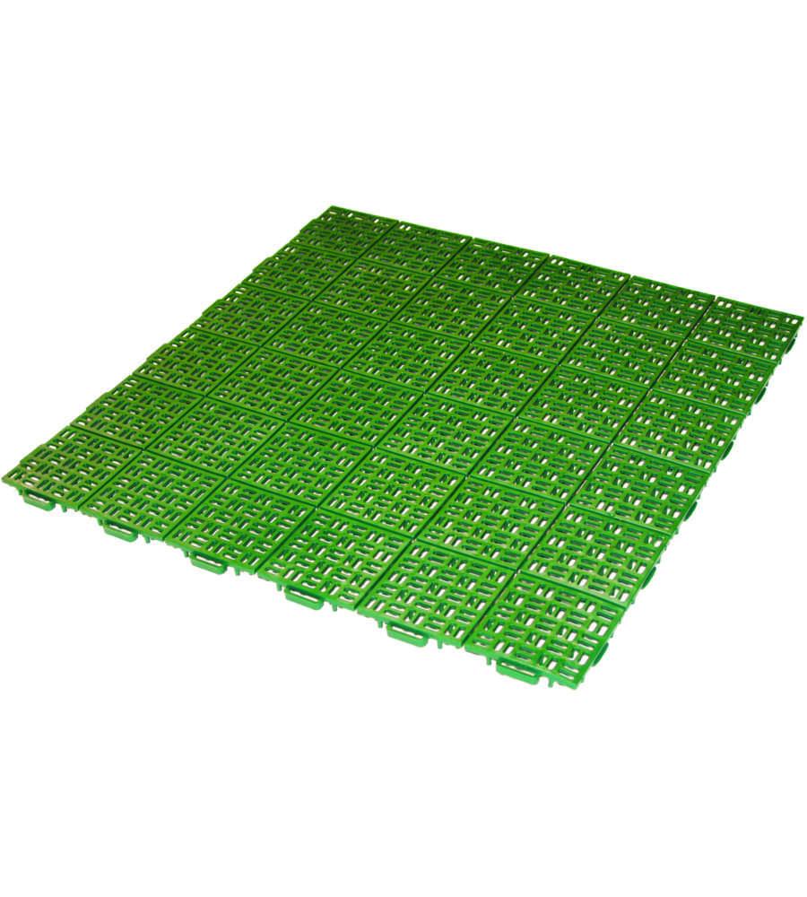 Piastrella verde drenante 563x563x13 mm - Piastrelle giardino plastica ...