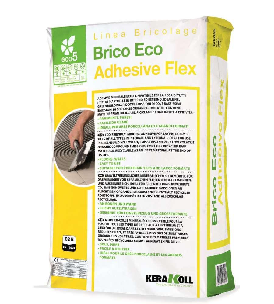 Adesivo minerale brico eco adhesive flex da 25 kg for Prodotti brico