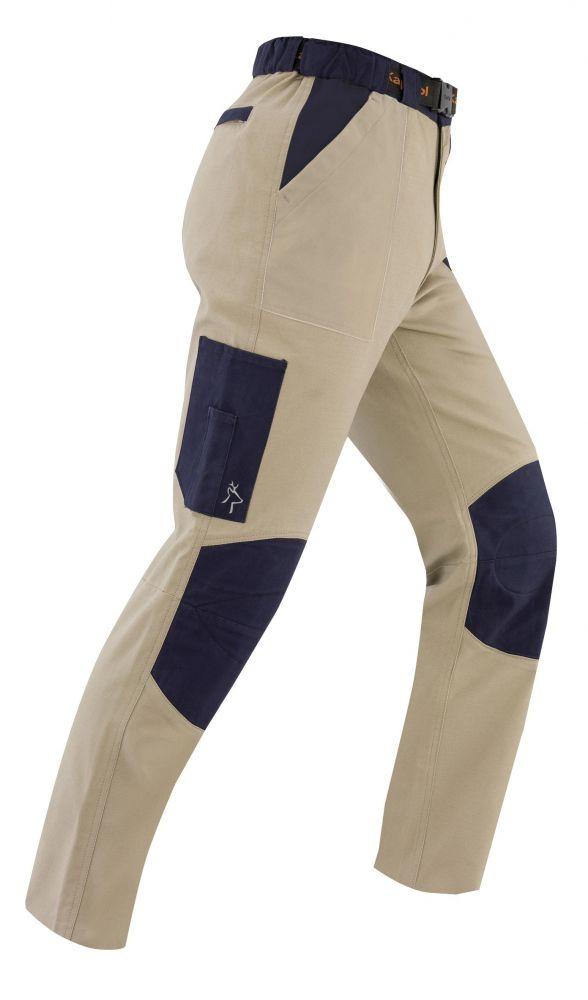 E Multitasche Tenere Pantalone S Kapriol Taglia Beige Blu UpGSVqzM