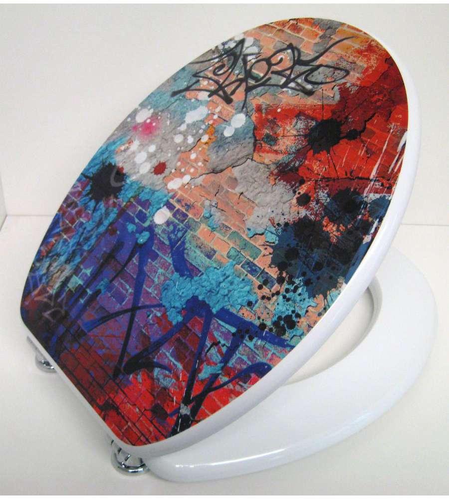 sedile copriwater universale con stampa murales