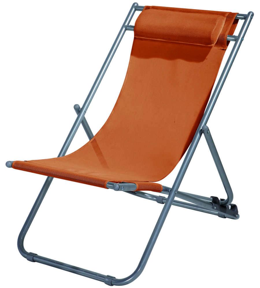 Sedie A Sdraio In Offerta.Offerta Sedia Sdraio Relax Con 3 Posizioni Arancio