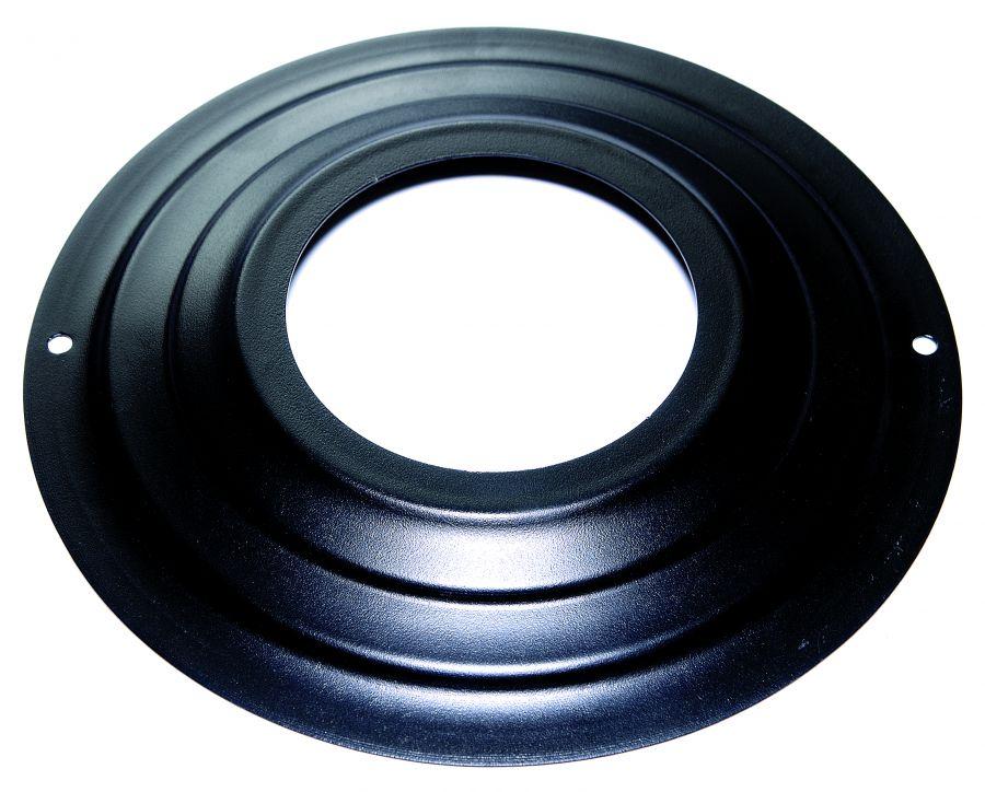 Rosone per tubi stufa pellet verniciato nero 80 mm - Tubi per stufa a pellet prezzi ...
