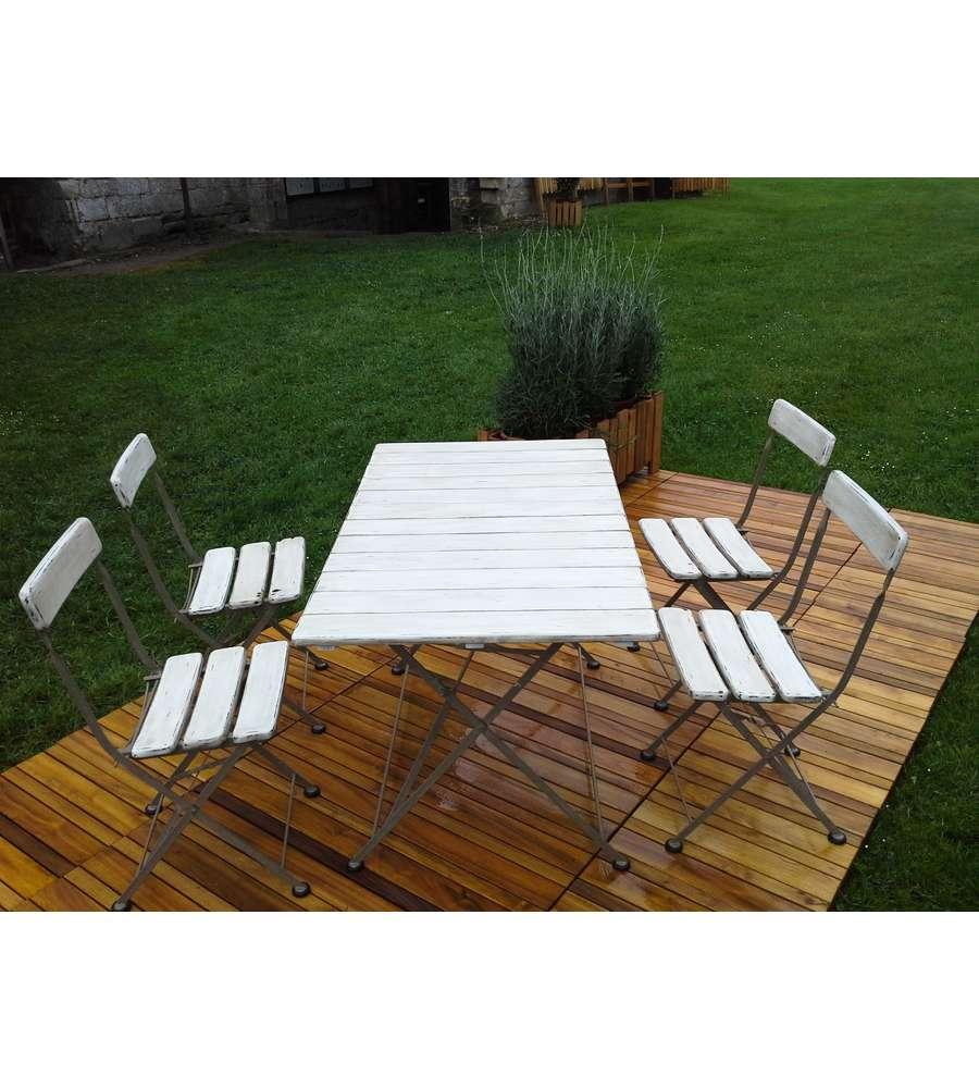 Set da giardino bretagna con tavolo e 4 sedie for Set arredo giardino offerte