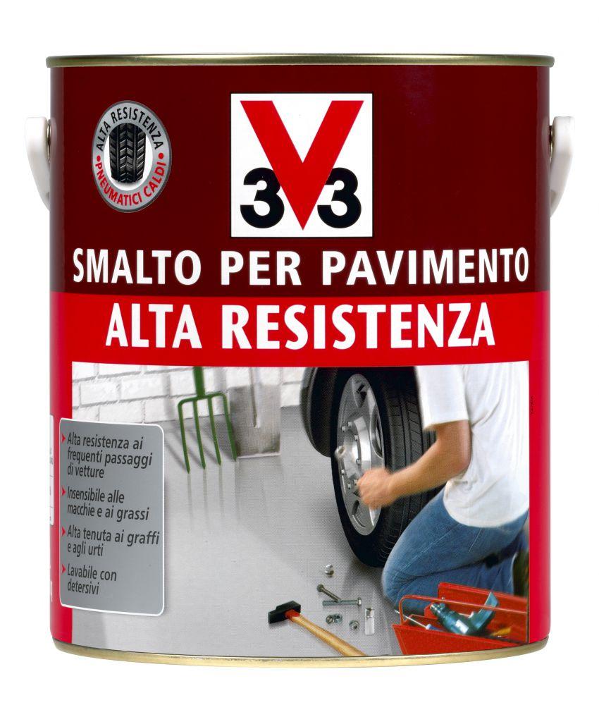 V33 - Smalto Per Pavimenti Grigio Scuro 2.5 Litri. Alta Resistenza