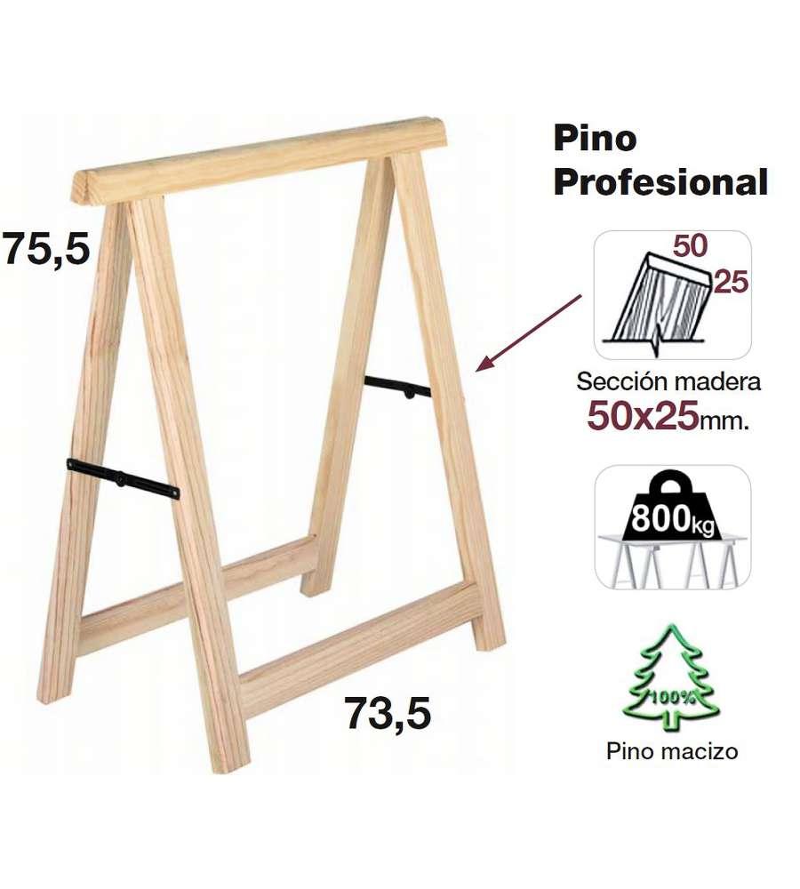 Cavalletto In Pino Professionale 73 5x75 Cm
