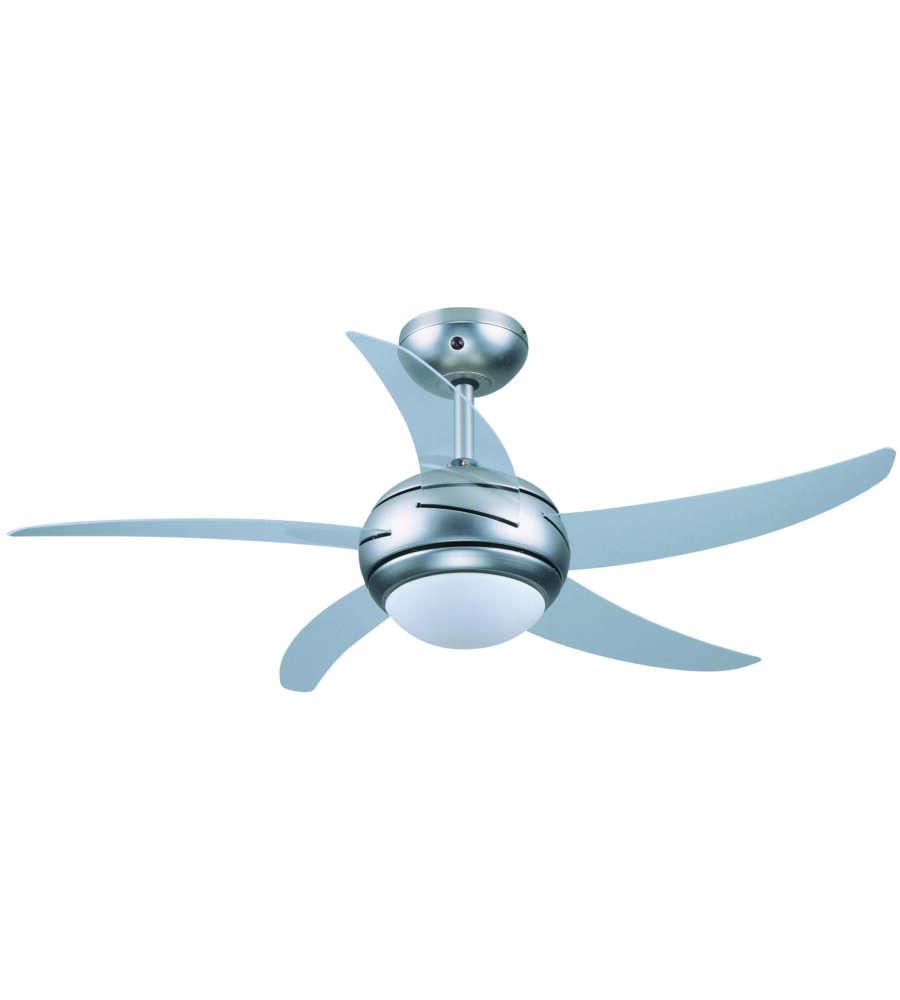 Ventilatore da soffitto 70911 con 5 pale ed 1 luce for Ventilatore a pale da soffitto silenzioso