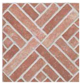 Piastrella red brick 31x31 cm for Piastrelle da esterno leroy merlin