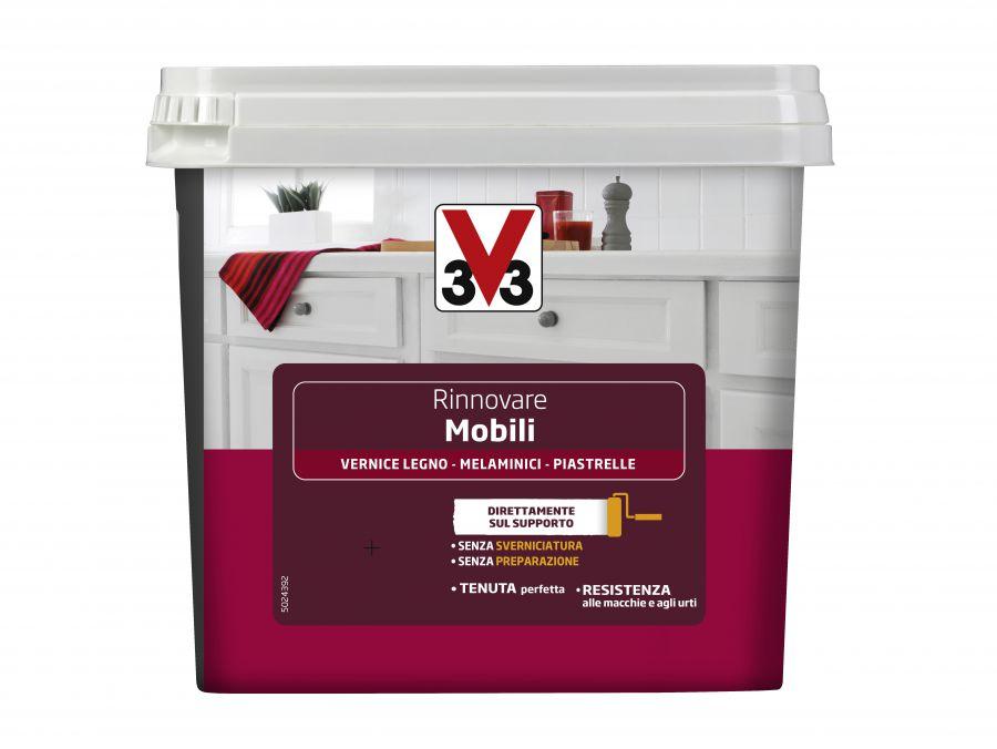 V33 smalto per mobili cucina bianco 750 ml - Smalto per piastrelle cucina ...