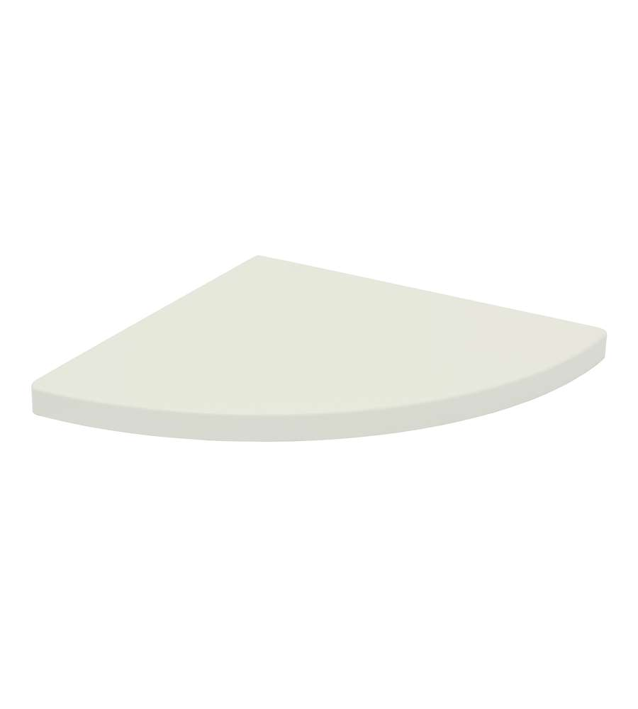 Mensola angolare 30x30 sp18 bianco for Mensola laccata bianca