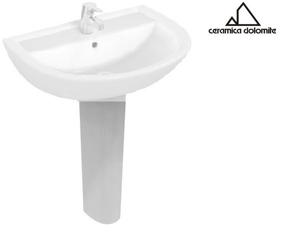 Lavabi In Ceramica Dolomite.Colonna In Ceramica Bianco Serie Quarzo Dolomite