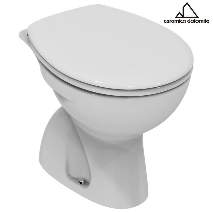 Vaso wc a terra in ceramica bianco serie free dolomite for Ceramica dolomite