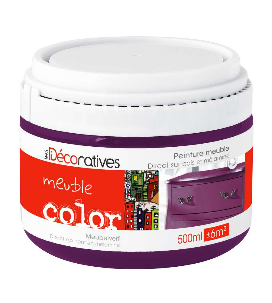 Pittura decorativa meuble color colore viola - Meuble colore ...
