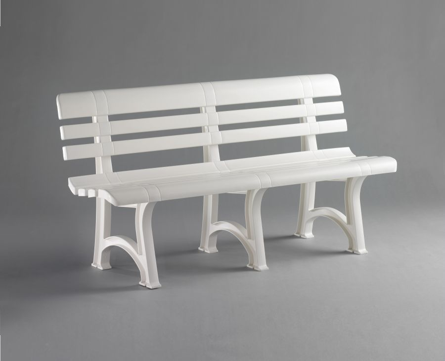 Panchina da esterno presidio smontabile bianca for Arredo 3 srl legnago