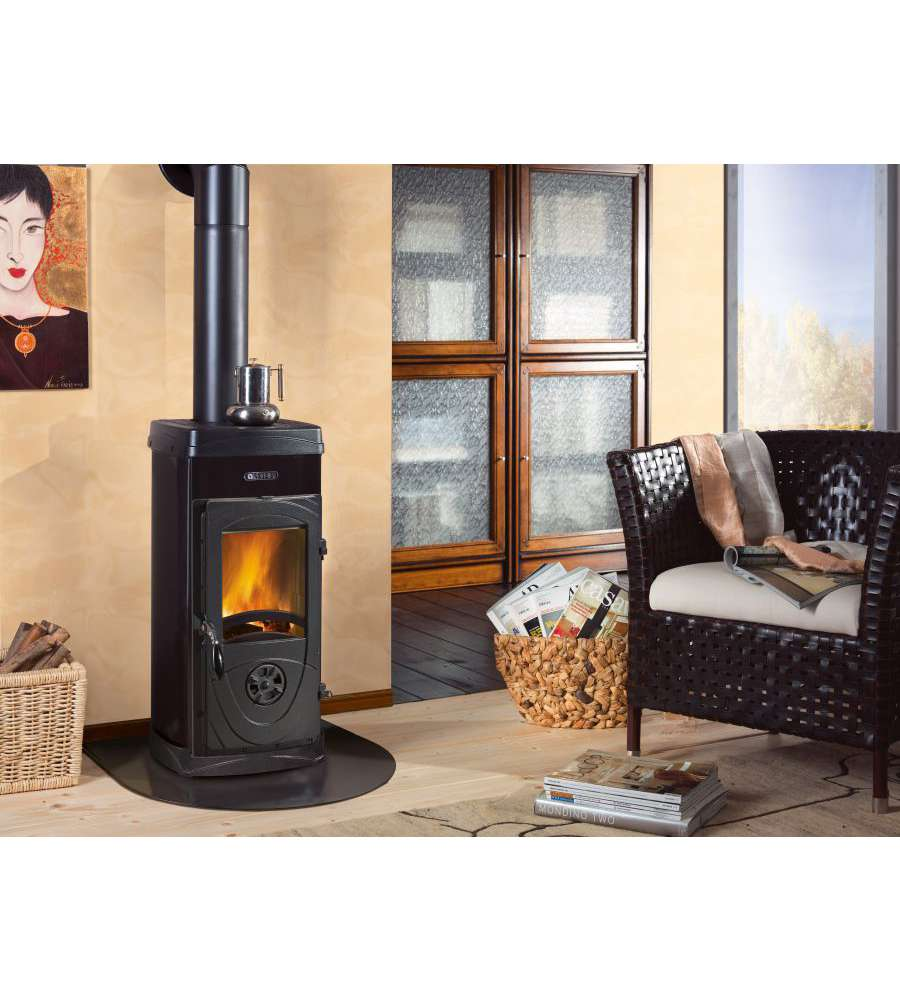 Stufa a legna super junior 6 3 kw nero antracite la nordica - Stufe a legna nordica ...