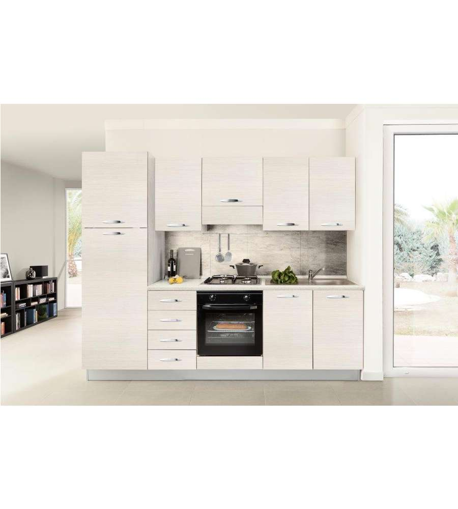 cucina 3 fuochi a gas con porta bombola - bi900ya/l- bianca. - Cucina Con Bombola