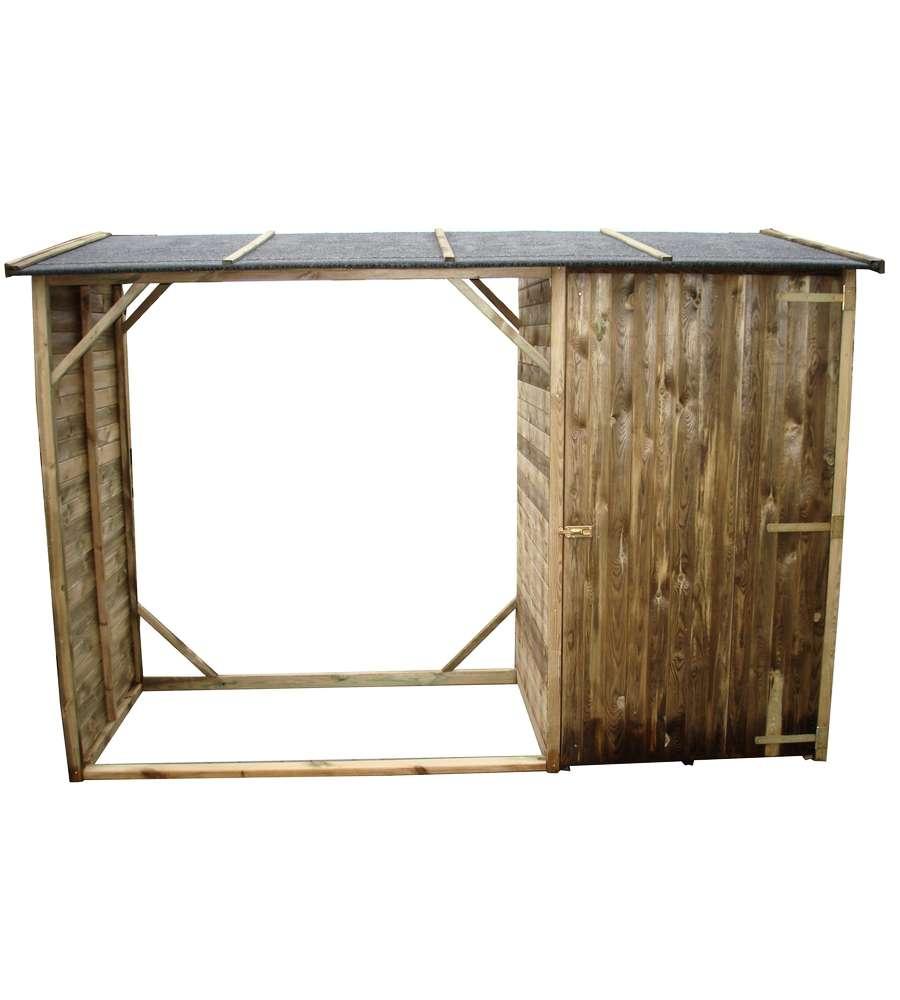 Legnaia da giardino con sgabuzzino e tetto for Legnaia fai da te