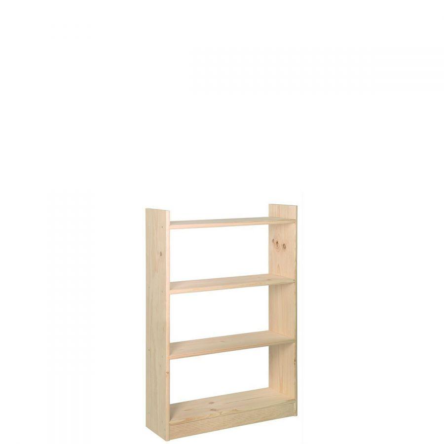 libreria modello gala con 3 ripiani 80 x 25 x 118h cm
