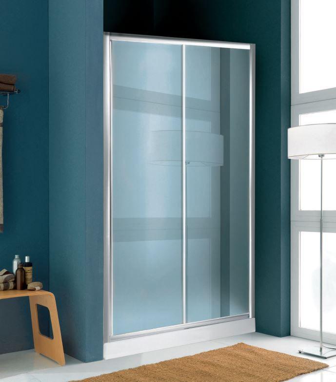 Parete In Vetro Scorrevole : Parete doccia con due ante in vetro scorrevole