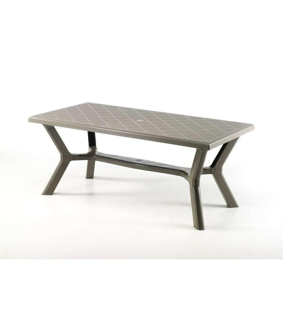 Eurobrico Tavoli Da Giardino.Tavolo Da Esterno Carribe 175x90x73 Cm Taupe