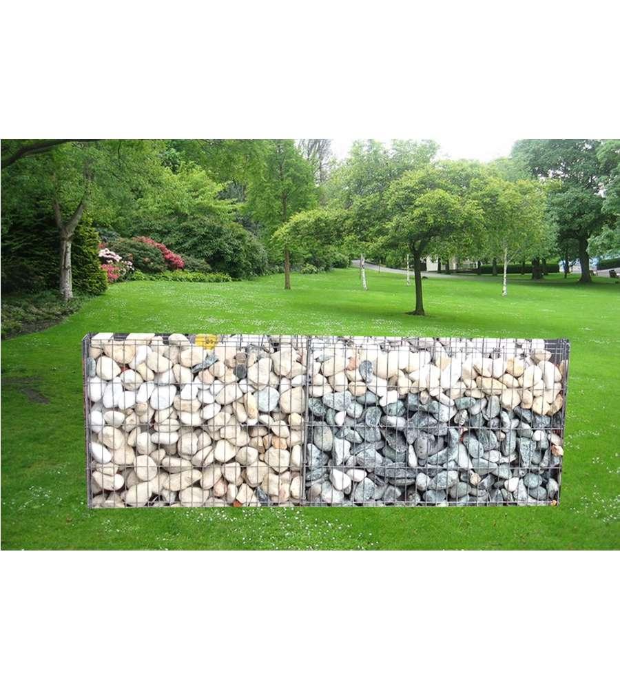 Offerta gabbione rett 100x10x30 c 12 ganci vuoto for Giardino rettangolare