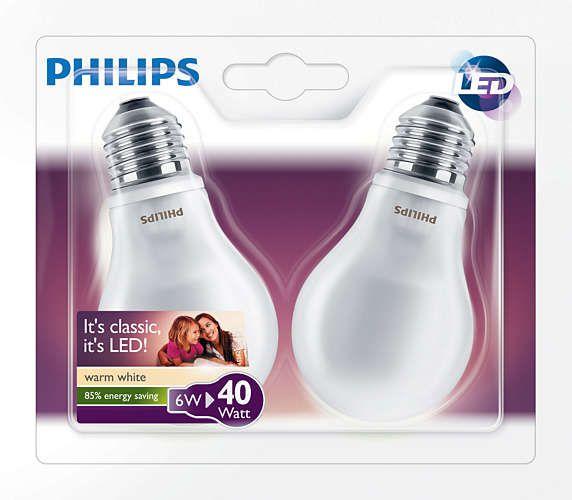 Offerta due lampadine led philips 40w e27 for Lampadine a led in offerta