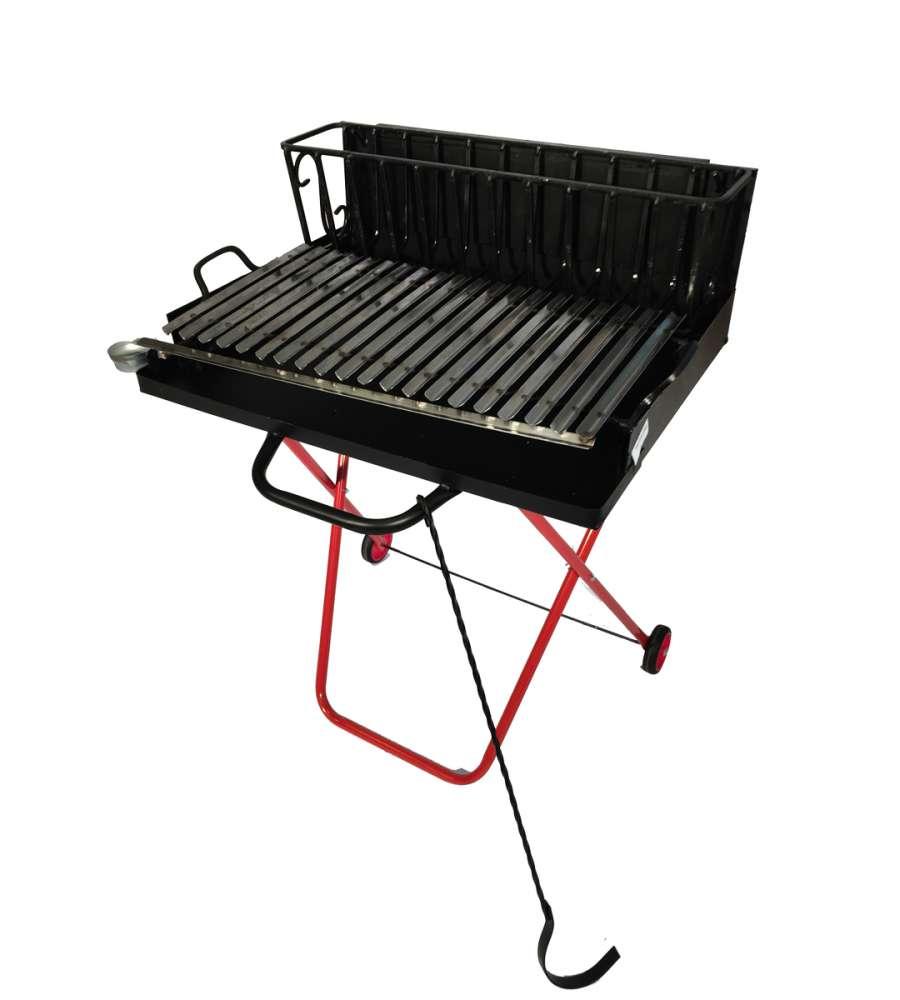 Barbecue a legna 100 cm griglia in acciaio - Nascondere griglia giardino ...