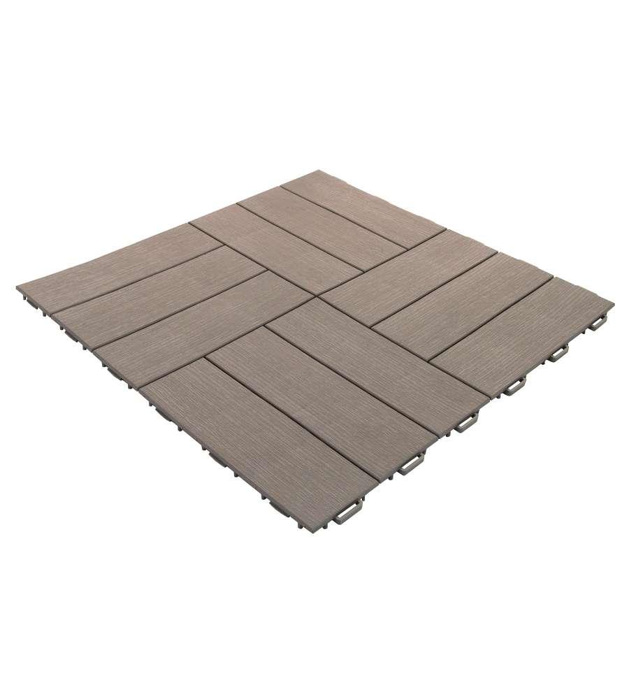 Piastrella simil legno grigio chiaro 563x563x13 mm for Piastrelle da esterno rosa